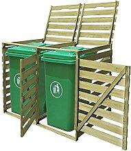 HUANGDANSP Mülltonnenbox für 2 Tonnen 240 L