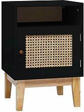 HUANGDANSP Nachttisch Schwarz 40x40x61 cm MDF und