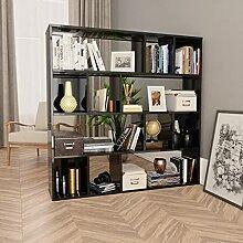 HUANGDANSP Raumteiler/Bücherregal Hochglanz-Grau