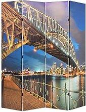 HUANGDANSP Raumteiler klappbar 160 x 170 cm Sydney