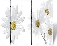 HUANGDANSP Raumteiler klappbar 200 x 170 cm Blume