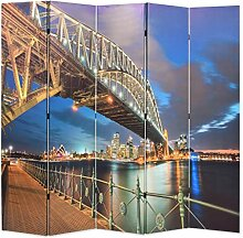 HUANGDANSP Raumteiler klappbar 200 x 170 cm Sydney