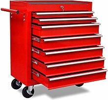 HUANGDANSP Roter Werkstattwagen 7