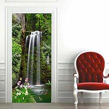 huangshi7230 Tür Aufkleber 3D Wasserfall