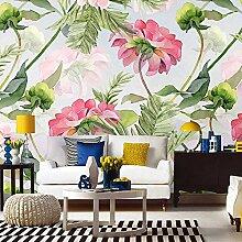 HUANGYAHUI Aquarell Blumen Malerei Wallpaper Wallpaper Personifizierte Retro Sofa Hintergrund Tapete-180Cmx120Cm
