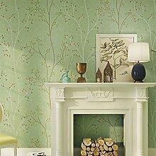HUANGYAHUI Einfache, Retro, Dunkelgrün, Non-Woven Textil, Tapeten, Schlafzimmer, Wohnzimmer, Hintergrund, Clubs, Bekleidungsgeschäfte, Grüne, Weiße Tapete, Klar Grün