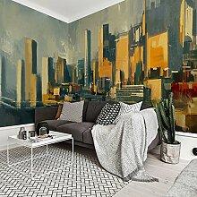 HUANGYAHUI Moderne Persönlichkeit Fernsehen Kulisse, Hotelbar, Retro Kunst Tapeten, Tapete-450 cmx315cm