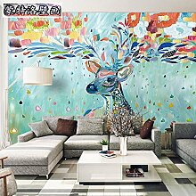 HUANGYAHUI Wandbilder Aquarelle Einfache Tv