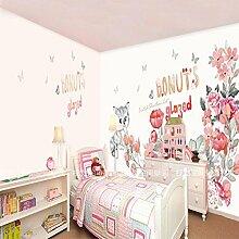HUANGYAHUI Wandbilder Cat Blume Hintergrund Wand Tapete Wohnzimmer Schlafzimmer Kinderzimmer Wandbilder Für Die Umwel
