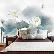 HUANGYAHUI Wandbilder Lotus Tapete Wohnzimmer