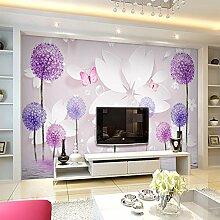 HUANGYAHUI Wandbilder Tv Wandbilder Tv Hintergrund Tapete 3D Löwenzahn Einfache 5D