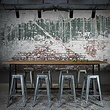 Huangyahuieuropean Stil 3D Retro Wandbild, personalisierte Tapete, Bar, Coffee Shop, Hintergrund, Wand, Tapete-120cmx100cm