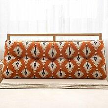 HUANLIN Baumwolle und Leinen Dreieck Kissen Bett Große Kissen Doppelbett Bettseite Soft Case Bed by Rückenpolster Kissen Lordosenstütze ( Farbe : C , größe : 22*50*60cm )