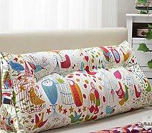 HUANLIN Doppelbett Bedside Dreieck Kissen Kissen Lendenkissen Sofa Rückenlehne Soft Case Bett schützen die Taille Position Pad ( Farbe : #6 , größe : 20*50*135cm )