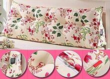HUANLIN Doppeldreiecks Kissen Kissen Kopfkissen Bett Rückenlehne ( Farbe : # 4 , größe : L )
