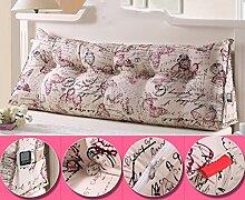 HUANLIN Doppeldreiecks Kissen Kissen Kopfkissen Bett Rückenlehne ( Farbe : #9 , größe : M )