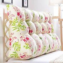 HUANLIN Double Bedside Dreieck Kissen, Kissen, Kissen Taille Kissen Sofa Rückenlehne Soft Case Bett Groß Schützen Sie die Taille 60 * 30 * 70CM ( Farbe : M , größe : 60*30*70CM )