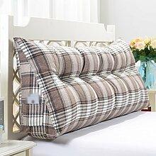 HUANLIN Dreieck dreidimensionale große Kissen, Kissen, schützen die Hals Taille Kissen Kissen Bedside große Rückenlehne Sofa Kissen Bett weichen Tasche Büro Taille Kissen 60 * 50 * 20CM ( Farbe : A , größe : 90*50*20CM )