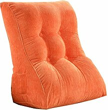 HUANLIN Dreieck Kissen / Kissen mit abnehmbarem Bezug, im Bett / Sofa / Auto / Büro / Haus, die für Lenden- / Taille / Rückenlehne / Lesekissen, orange verwendet werden kann ( größe : 45*55*30cm )