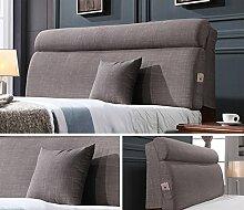 HUANLIN Einzelbett Doppelbett Bedside Kissen, Softcase, Bett Rückenlehne, Abnehmbare Kissen ( MUSTER : B )