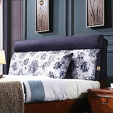 HUANLIN Einzelbett Doppelbett Bedside Kissen, Softcase, Bett Rückenlehne, Abnehmbare Kissen ( MUSTER : A )