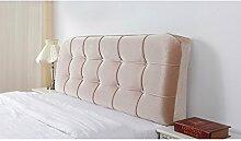 HUANLIN Europäische Tuch Nacht Soft Paket Bedside Kissen Große Rückenpolster Bett Kissen Nacht Kissen Lange Kissen ( Farbe : # 3 , größe : 125*59cm )