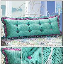 HUANLIN Günstige Baumwolle Bett großes Kissen Bett Rückenlehne Kissen Paar Doppel Kissen gepolstert ( Farbe : # 3 , größe : 1.8m )