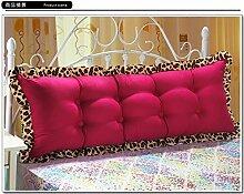 HUANLIN Günstige Baumwolle Bett großes Kissen Bett Rückenlehne Kissen Paar Doppel Kissen gepolstert ( Farbe : # 1 , größe : 1.2m )