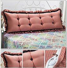 HUANLIN Günstige Baumwolle Bett großes Kissen Bett Rückenlehne Kissen Paar Doppel Kissen gepolstert ( Farbe : # 4 , größe : 2.0M )