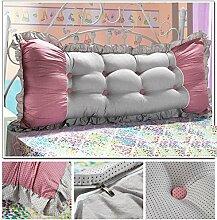 HUANLIN Günstige Baumwolle Bett großes Kissen Bett Rückenlehne Kissen Paar Doppel Kissen gepolstert ( Farbe : #7 , größe : 1m )
