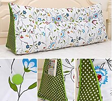 HUANLIN Kontinentale dreieckige Kissen nach Paket Kissen Doppelbett Bedside Soft Pack große Bett Kissen waschbar Bed Rückenlehne ( Farbe : # 3 , größe : L )