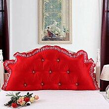 HUANLIN Koreanischen Stil Prinzessin Bett große Rückenkissen-Kissenbett Doppel ( Farbe : # 1 , größe : 2.0M )
