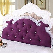 HUANLIN Koreanischen Stil Prinzessin Bett große Rückenkissen-Kissenbett Doppel ( Farbe : # 3 , größe : 1.8M )