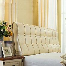 HUANLIN Leder Nacht Soft Paketdoppelbett Nachtkissen-weiches Bett-Kissen Rückenbettdecke für 1.2m Bett oder 1.5m Bett ( Farbe : # 6 , größe : 1.5m Bed )
