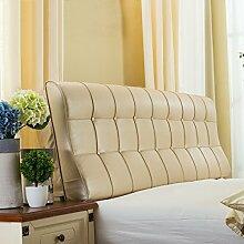 HUANLIN Leder Nacht Soft Paketdoppelbett Nachtkissen-weiches Bett-Kissen Rückenbettdecke für 1.2m Bett oder 1.5m Bett ( Farbe : #5 , größe : 1.2m Bed )