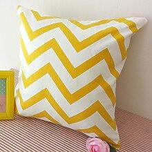HUANLIN Schlafzimmer Bett Kissen Kissen Sofakissen Büro Taille Lumbalpelotte Kern enthält, ( größe : 60*60cm )