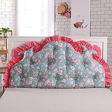 HUANLIN Sofa-Bett Großes gefülltes doppeltes rückseitiges Kissen-Schlafzimmer-Rückenlehnen-Kissen-Lesekissen Lenden-Auflage mit entfernbarem Abdeckung ( größe : 180*85*16cm )