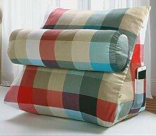 HUANLIN Triangle Kissen Bett Rückenpolster Bürostuhl Kissen Taille Kissen Kissenpolster waschbar ( größe : 55*47*30CM )