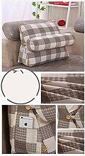 HUANLIN Triangle Taille Kissen Kissen gepolstertes Sofa-Bett Rückenlehne lumbalen Rückenpolster ( Farbe : #7 , größe : L )