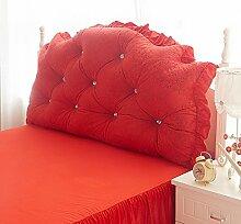 HUANLIN Velvet Kopfrückenlehne Bett Kissen Soft Case Bedside Big Kissen, welche ein Kernkissen ( stil : # 7 )