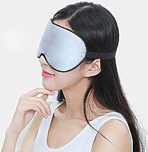 HUANQIN Herren- Und Damenseide Schützt Die Augen Vor Sonnenschutz Schlafmaske Ohrstöpsel Verschicken ( Farbe : Silber )