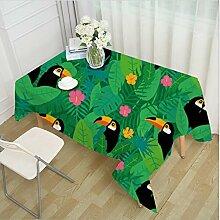 HUANZI Grüne Pflanze Tischdecke Rechteckige Tischdecke Obst Ananas Tischdecke Küche Dekoration Tischdecke, 006, 140*140