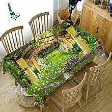 HUANZI GrüNe Textilien Tischdecken (3D-Blumen