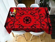 HUANZI Rotes Tischtuch-Weihnachten,