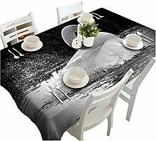 HUANZI Schwarz Tischtuch TischwäSche 3D Edle