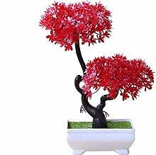 HUAPENLL Künstlich Bonsai Baum mit Topf,