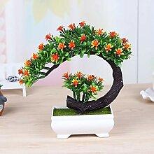 HUAPENLL Mini Künstlich Bonsai Baum,