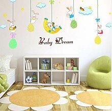 HUASU DIY Wandaufkleber Baby Träume Für Kinder
