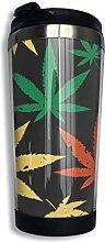 huatongxin Retro Marijuana Kaffeetasses Rostfreier