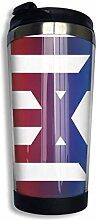 huatongxin Us Israeli Flag Kaffeetasses Rostfreier